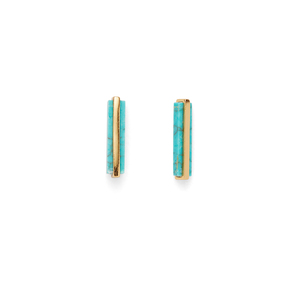 Gorjana Dez Bar Studs in Gold and Turquoise