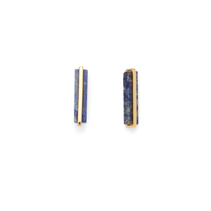 Gorjana Dez Bar Studs in Gold and Lapis