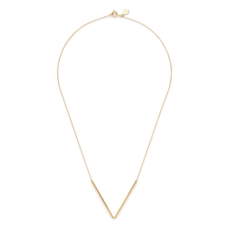 Gorjana Bali Tube Small V Necklace