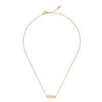 Gorjana Dez Bar Necklace in Gold and Pink Aventurine