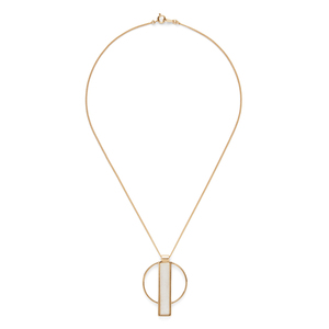 Jenny Bird Pollux Pendant in Gold and White