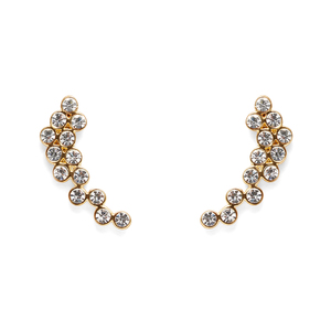 Rebecca Minkoff Crystal Ear Climbers in Gold