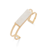 Jenny Bird Lizzie Cuff in Gold and White