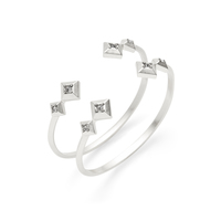 House of Harlow 1960 Lyra Cuff Set in Silver