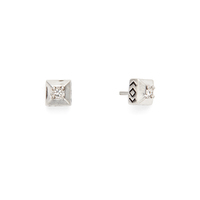 House of Harlow 1960 Lyra Studs in Silver