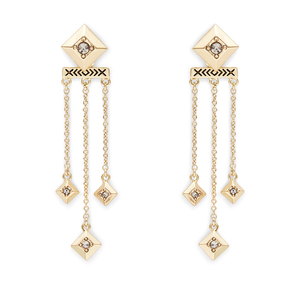 House of Harlow 1960 Lyra Dangle Earrings in Gold