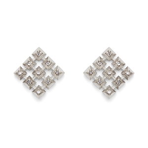 House of Harlow 1960 Lyra Button Earrings in Silver