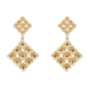 House of Harlow 1960 Lyra Statement Earrings in Gold