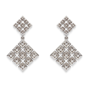 House of Harlow 1960 Lyra Statement Earrings in Silver