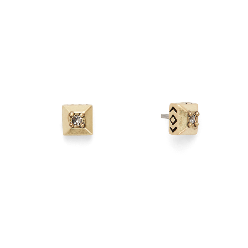 House of Harlow 1960 Lyra Studs in Gold