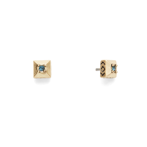 House of Harlow 1960 Lyra Studs in Gold and Blue