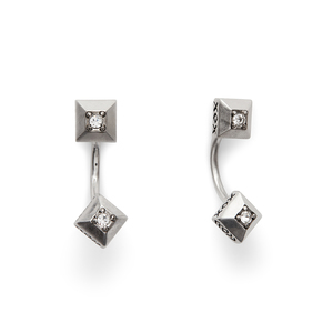 House of Harlow 1960 Lyra Ear Jacket In Silver