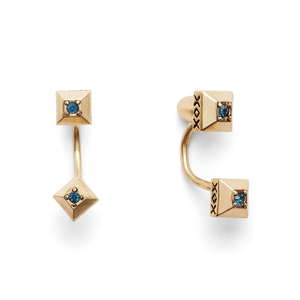 House of Harlow 1960 Lyra Ear Jacket in Gold and Blue