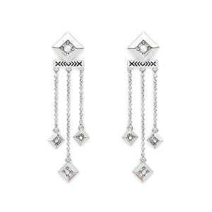 House of Harlow 1960 Lyra Dangle Earrings in Silver