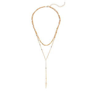 Sophie Harper Sophia Lariat Necklace in Gold