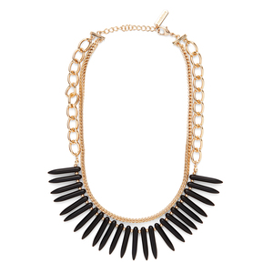 SLATE Ami Necklace in Gold and Black