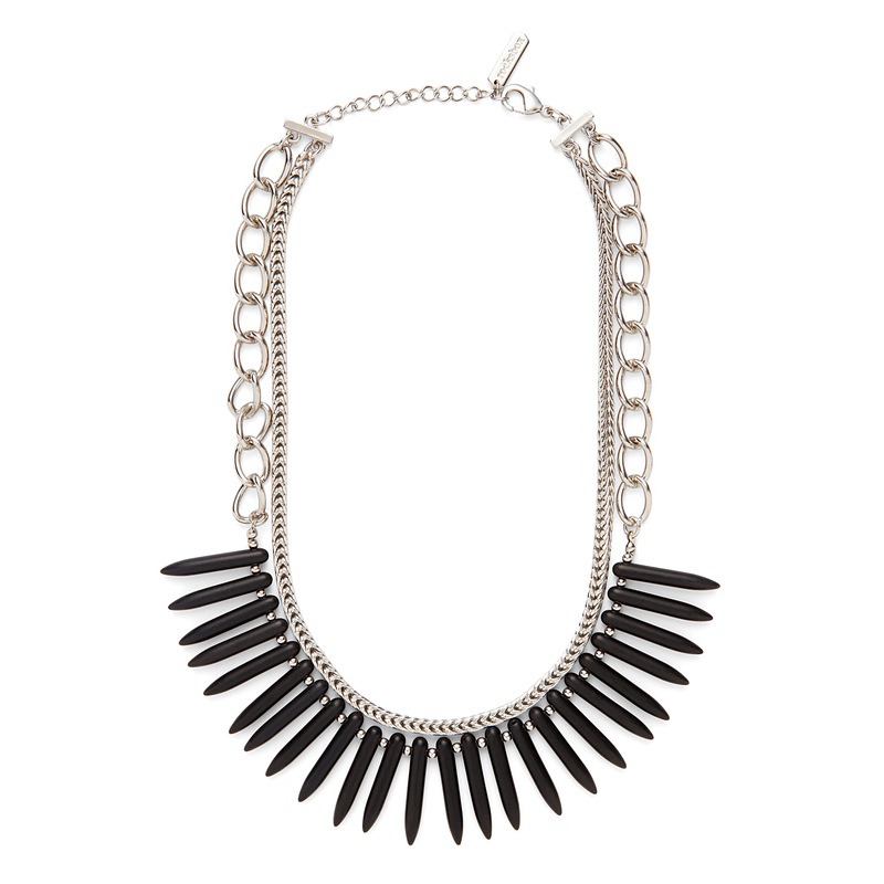 SLATE Ami Necklace in Silver and Black