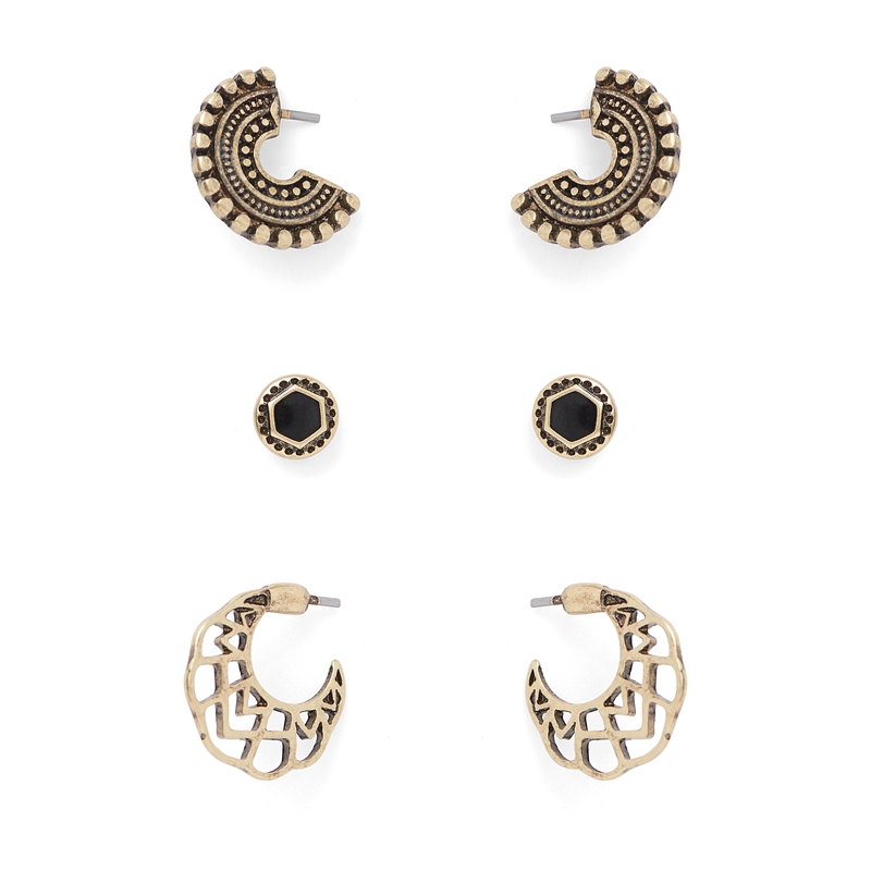 SLATE Roxie Earring Pack in Gold