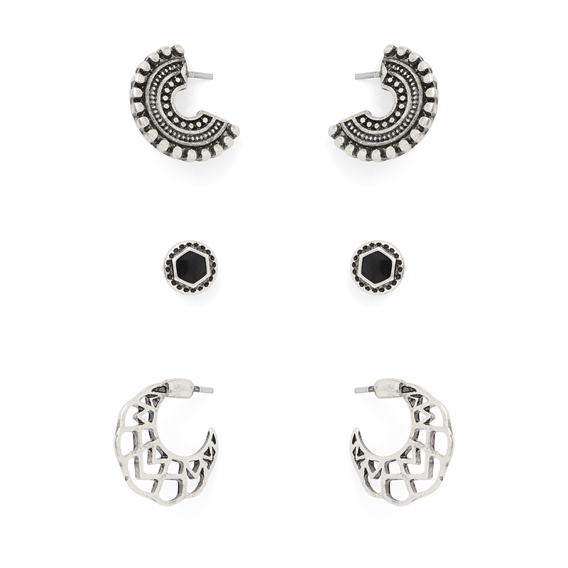 SLATE Roxie Earring Pack in Silver