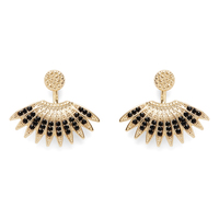 SLATE Kaya Beaded Ear Jackets in Gold