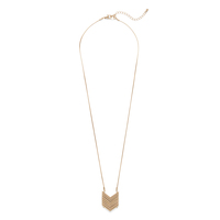 SLATE Demi Chevron Pendant Necklace