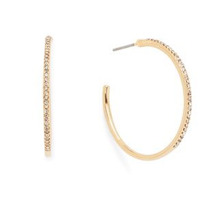 Sophie Harper Gracie Pavé Hoop Earrings in Gold