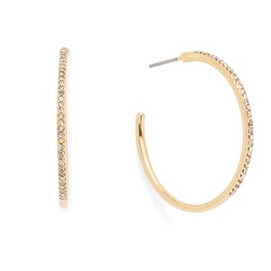 Sophie Harper Gracie Pavé Hoop Earrings in Gold