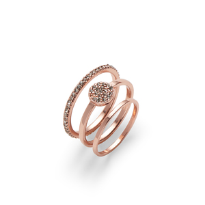 Sophie Harper Pavé Circle Ring Set in Rose Gold