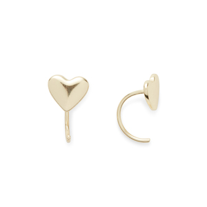 Kris Nations Heart Tiny Hoops