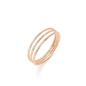 Sophie Harper Rose Gold Faceted Ball Ring