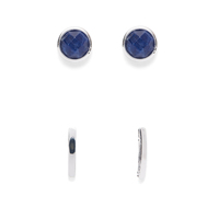 SLATE Stone and Bar Stud Pack in Blue