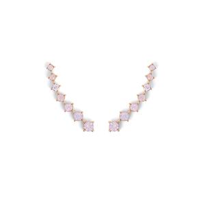 Sophie Harper Crystal Ear Climbers in Pink
