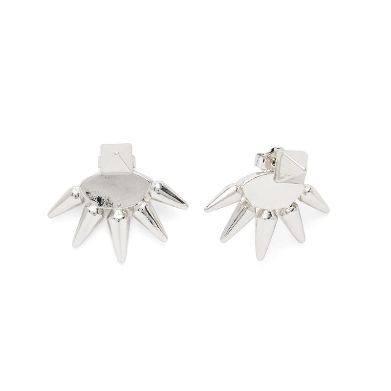 Anita K Foxy Earrings in Silver