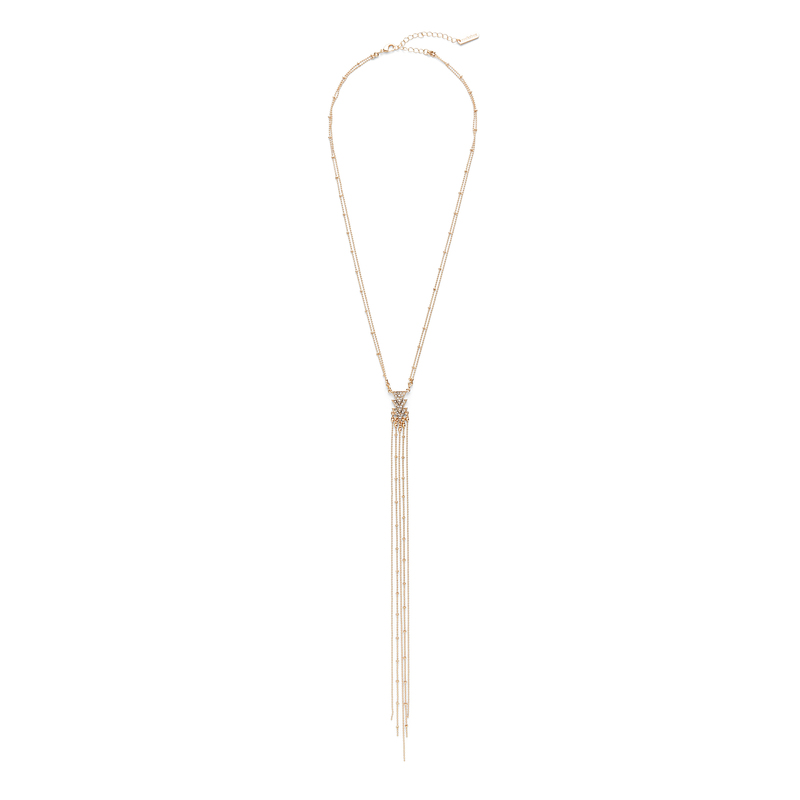 SLATE Lilly Lariat Necklace in Gold
