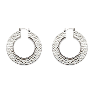 House of Harlow 1960 Helicon Hoop Earrings in Silver