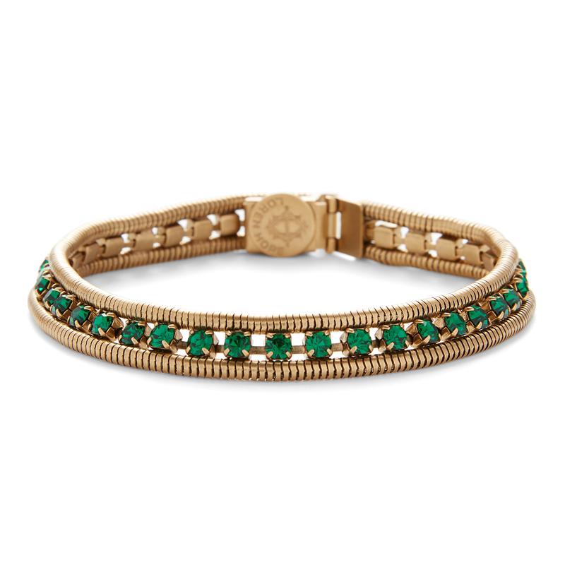 Loren Hope Clara Mini Bracelet in Emerald