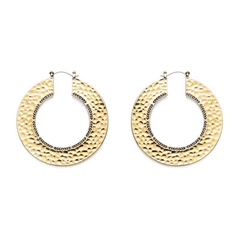 House of Harlow 1960 Helicon Hoop Earrings in Gold