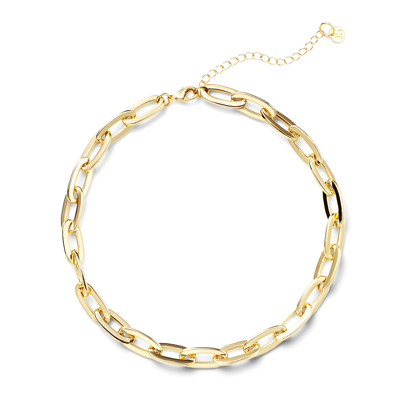 Jules Smith Oversized Cable Link Necklace