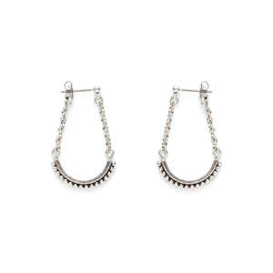 SLATE Mira Studded Drop Earrings
