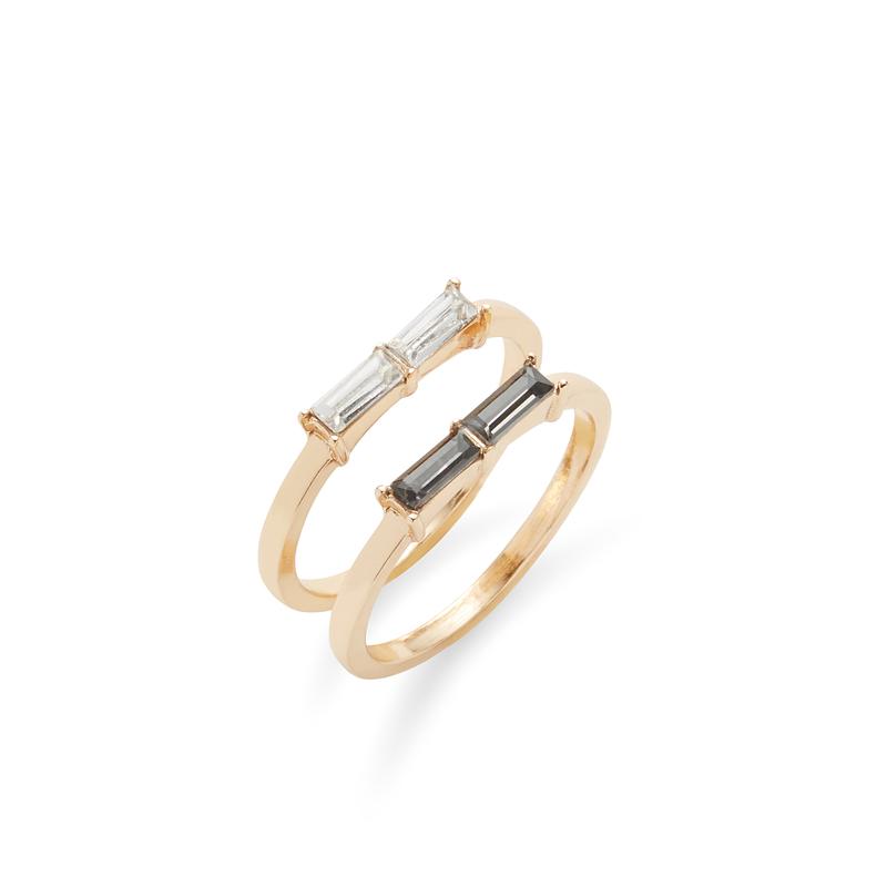 Sophie Harper Baguette Ring Set