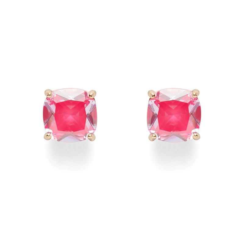 Kate Spade Square Studs in Hot Pink