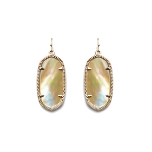 Kendra Scott Elle Earrings in Rose Gold Brown Pearl