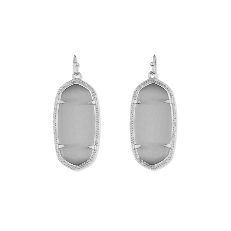 Kendra Scott Elle Silver Earrings in Slate