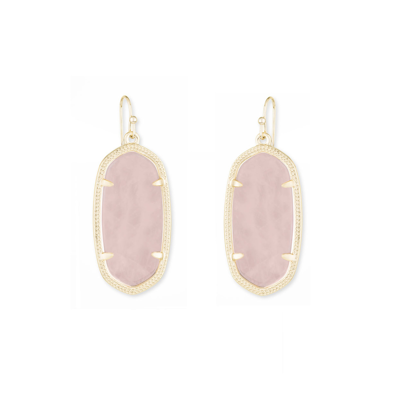 Kendra Scott Elle Earrings in Rose Quartz