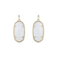 Kendra Scott Elle Earrings in White Pearl