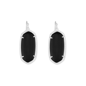 Kendra Scott Elle Silver Earrings in Black