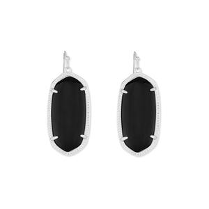 Kendra Scott Elle Silver Earrings in Black