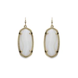 Kendra Scott Elle Earrings in White Banded Agate