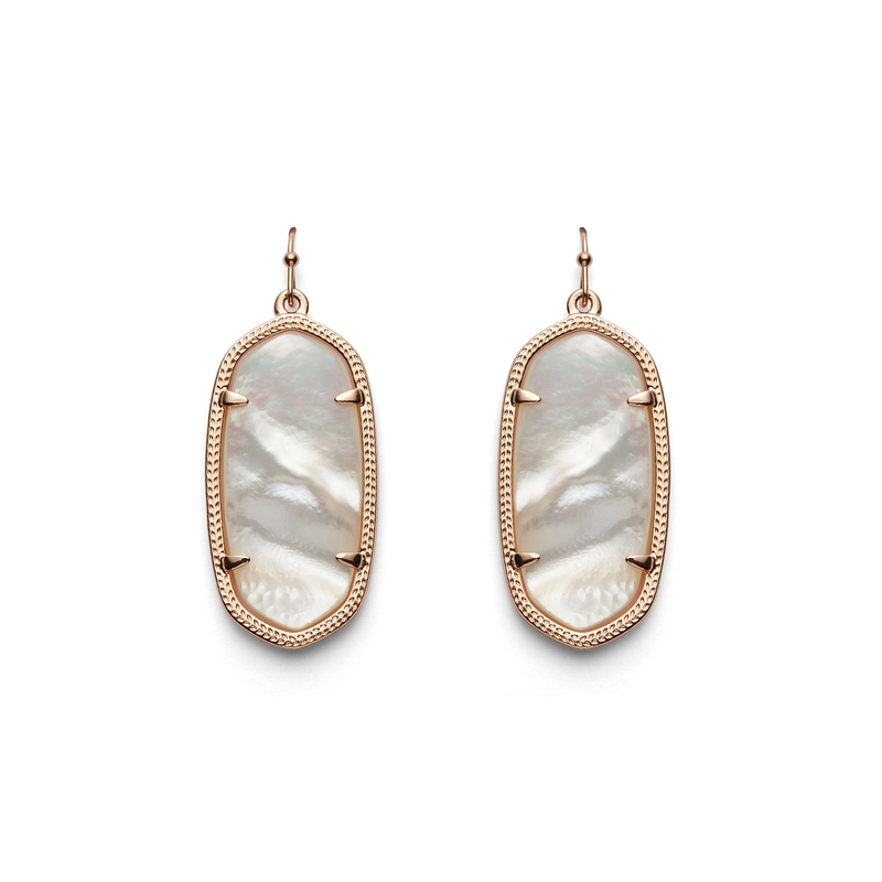 Kendra Scott Elle Earrings in Rose Gold Ivory Pearl