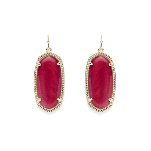 Kendra Scott Elle Earrings in Burgundy Illusion